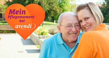 Teaser der Beruf hat viele tolle Seiten, Altenpflegerin mit Patient