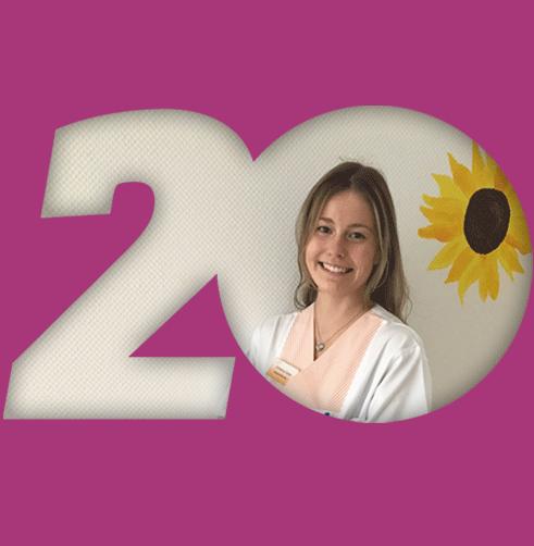 Zitat Christina Oelze violetter Hintergrund