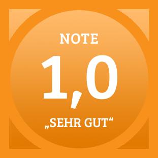 Plakette Note 1,0