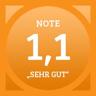 Plakette Note 1,1