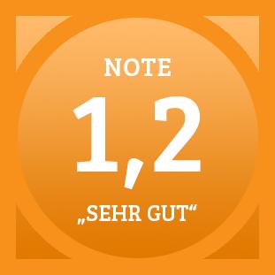 Plakette Note 1,2