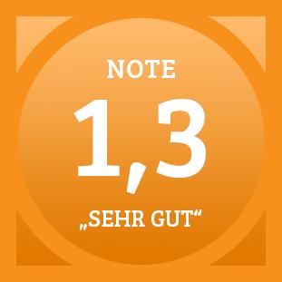 Plakette Note 1,3