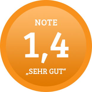 Plakette Note 1,4