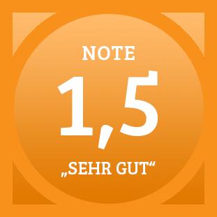 Plakette Note 1,5