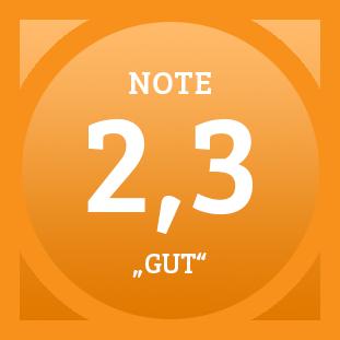 Plakette Note 2,3