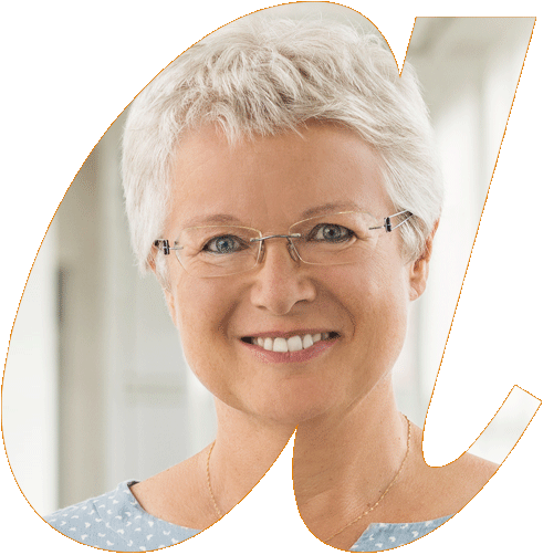 Portrait Ingrid Witt in avendi-a-Schablone