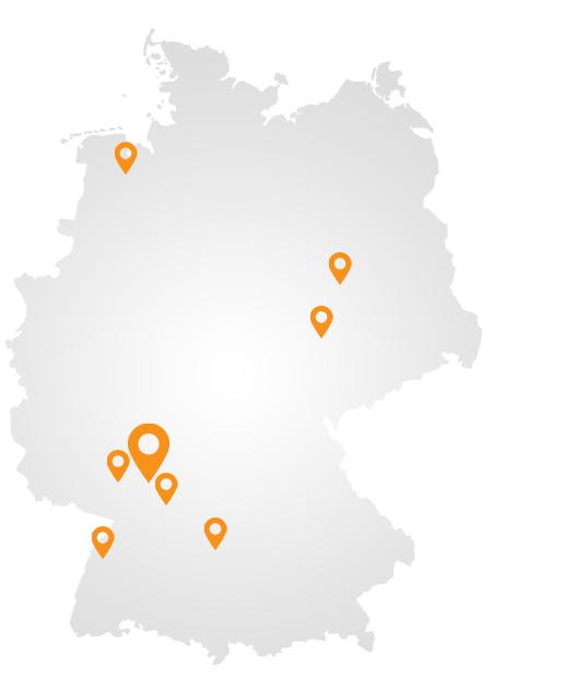 Deutschlandkarte mit Standorten