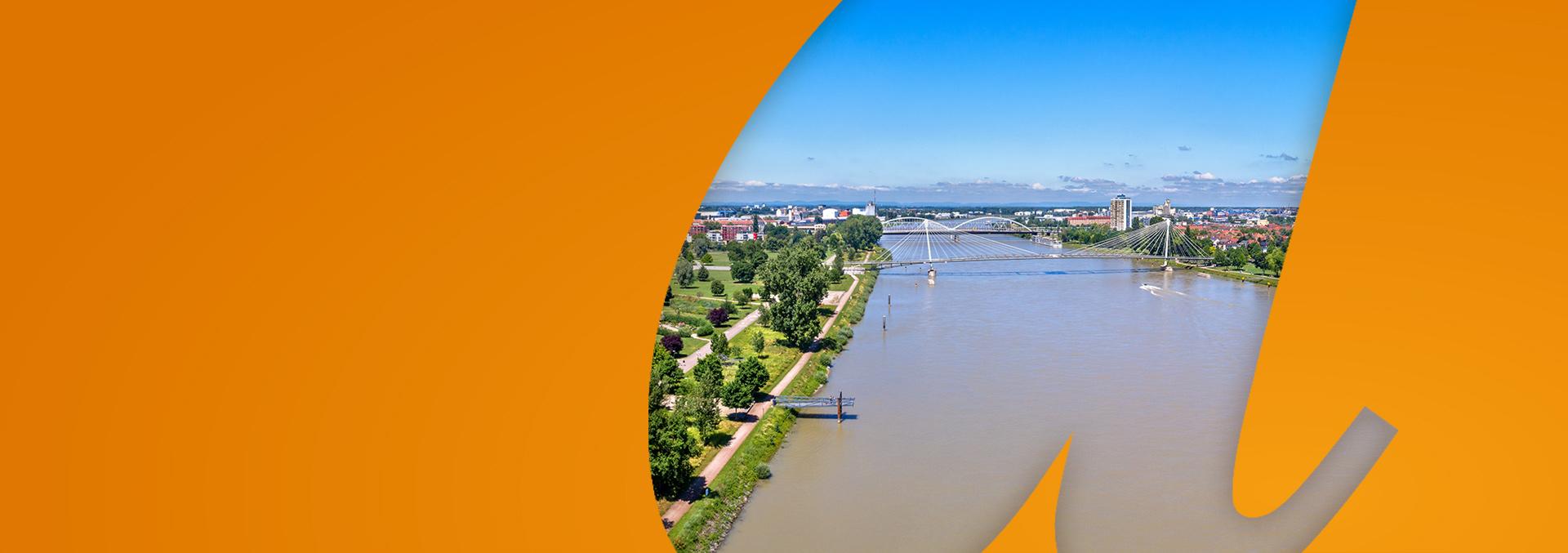 Standort Kehl: Hängebrücke über den Rhein
