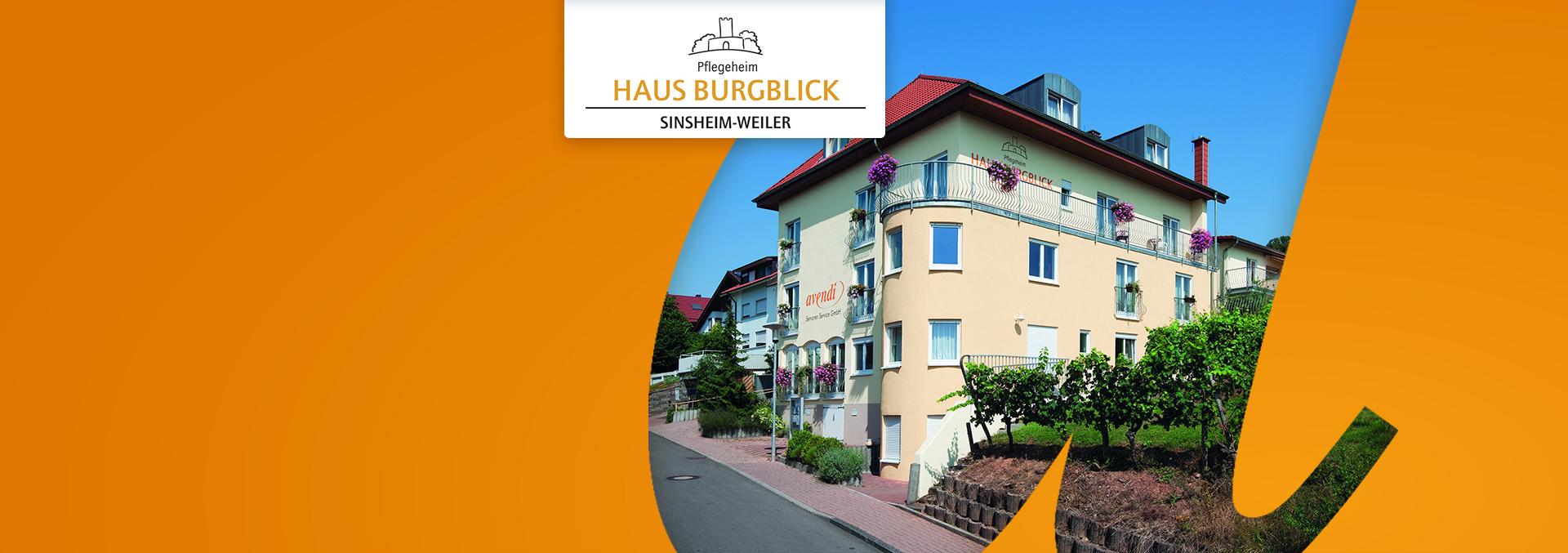 Pflegeheim Haus Burgblick von außen neben Reben an einer Anhöhe
