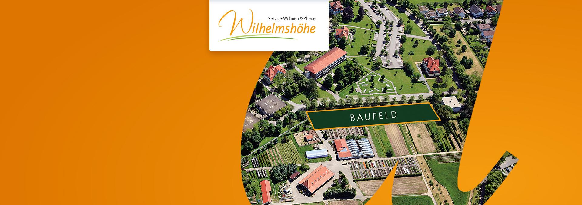 Luftbild auf das Baufeld für das Fachpflegezentrum Wiesloch Wilhelmshöhe